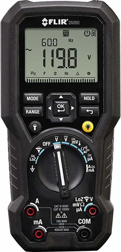 FLIR DM90工業級真有效值數位萬用表內容