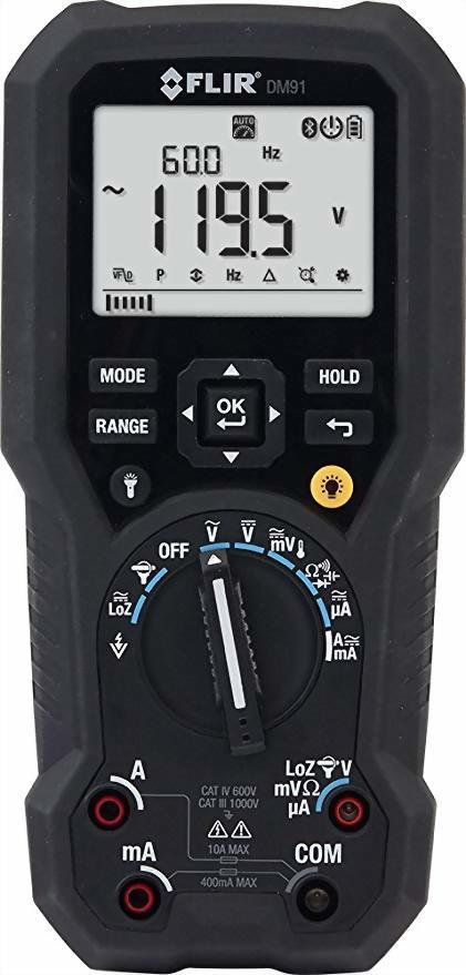 FLIR DM91工業用グレードの真のRMSデジタルマルチメーターコンテンツ