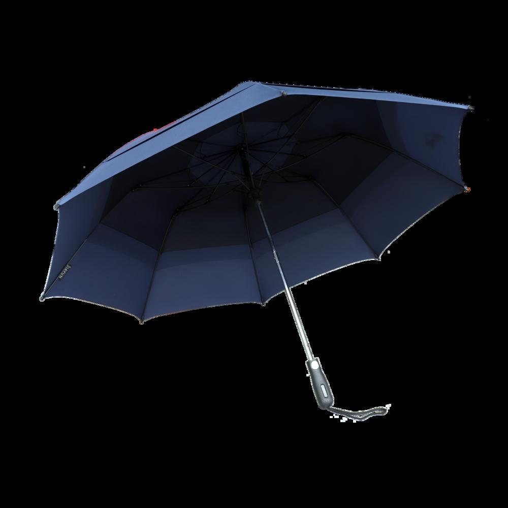 Double Canopy Wind Resistant Folding Umbrella