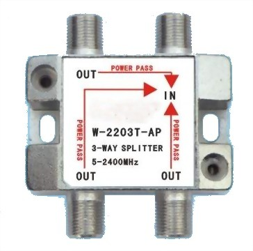 5~2400MHz SMATV 3-WAY SPLITTER