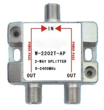 5~2400MHz SMATV 2-WAY SPLITTER