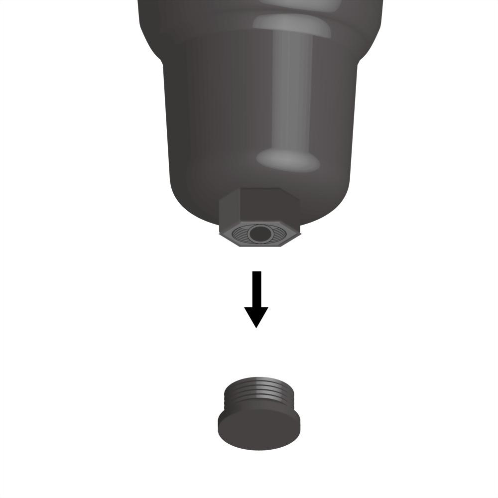 Audi VW Oil Filter Housing Drain Tube