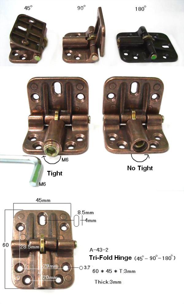 三段式鉸鍊