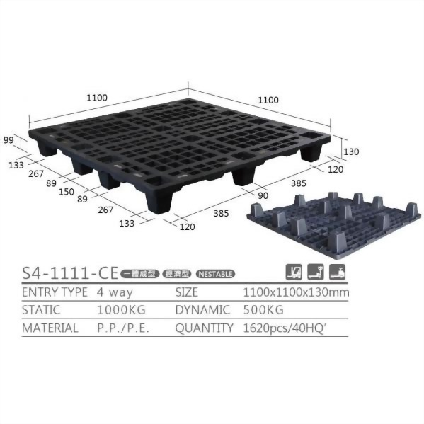 export pallet, recycled plastic pallet, one way pallet