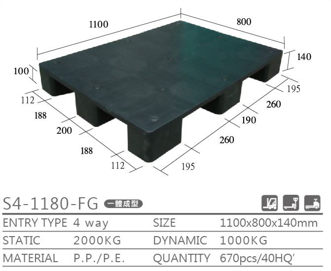 export pallet,recycled plastic pallet, one way pallet