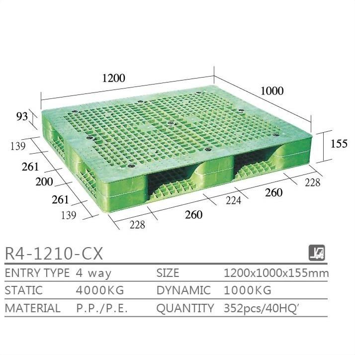R4-1210-CX-両面タイプのパレット