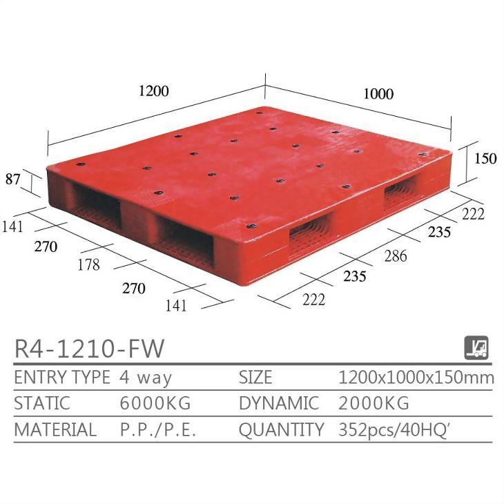 R4-1210-FW両面タイプのパレット