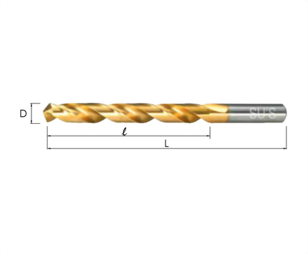 I-113-氮化鈦—直柄花鑽頭