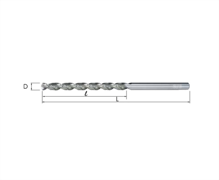 K-1310~1330-深孔用—強力型直柄長鑽頭