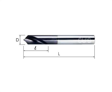 WP-1751-TiAlN 90°鎢鋼NC定點鑽頭