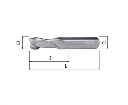 EM-4141-高鈷端銑刀 標準2刃型