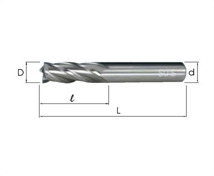 EM-4142-高鈷端銑刀 標準4刃型