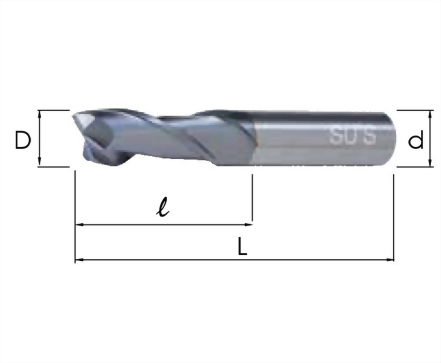 EM-4145-高鈷端銑刀 覆TiCN標準2刃型