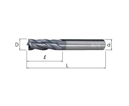 EM-4146-高鈷端銑刀 覆TiCN標準4刃型