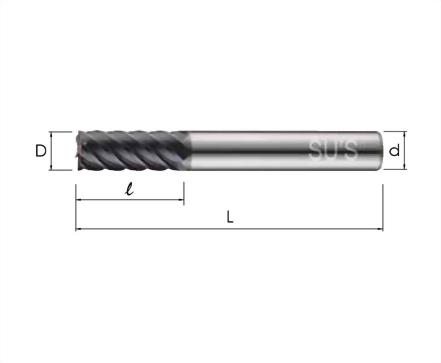WE-4601-標準 6刃立銑刀