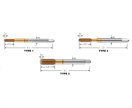 FT-82314-TiN Coated Forming Taps