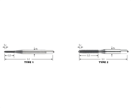 FTL-82435-TiCN Coated ASP Forming Taps-Long (Metric Thread)