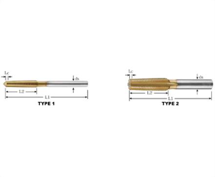 NT-83354-TiN螺帽絲攻 - 一般黑鐵用