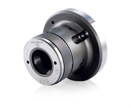 Collet chuck for cylindrical center mount