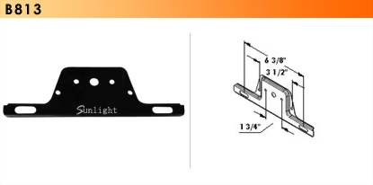 Universal Steel Bracket For License Plate Lights