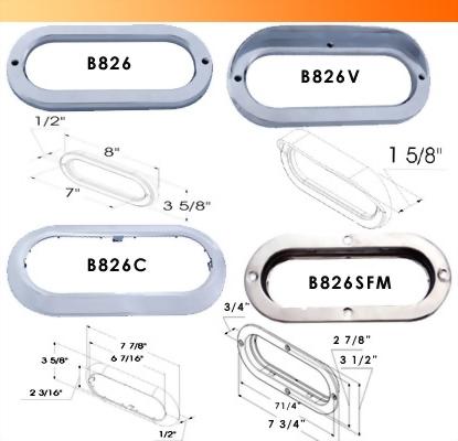 Chrome Bezel & Mounting Bracket
