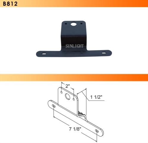 Universal Black Plastic Bracket For License Plate Lights