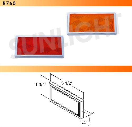Rectangular Quick-Mount Reflector W/Chrome Bezel