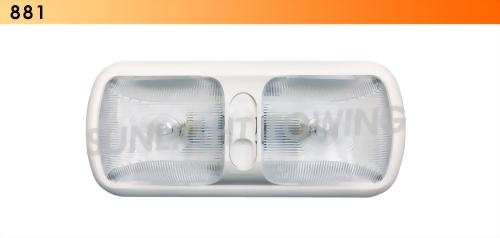 Double RV Ceiling Light