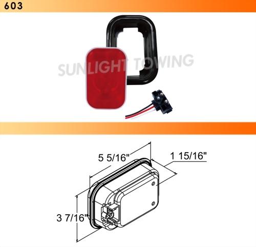 Rectangular Sealed S/T/T Light