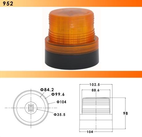 Magnetic LED Rotating/Flashing Light