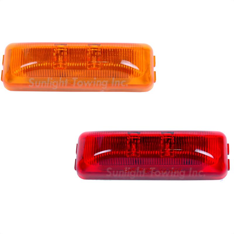 LED Rectangular Sealed Clearance Marker Light - 2 Diodes