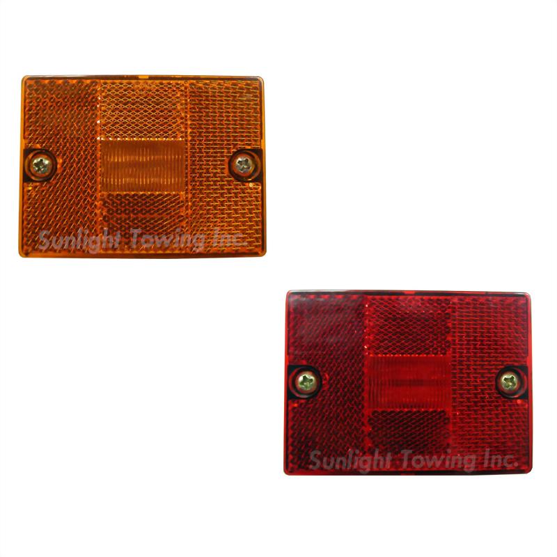 LED Rectangular Stud-Mount Marker Light W/Reflex Lens - 6 Diodes