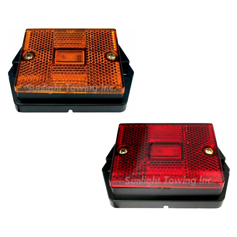 LED Rectangular Clearance Marker Light W/Reflex Lens - Single Diode
