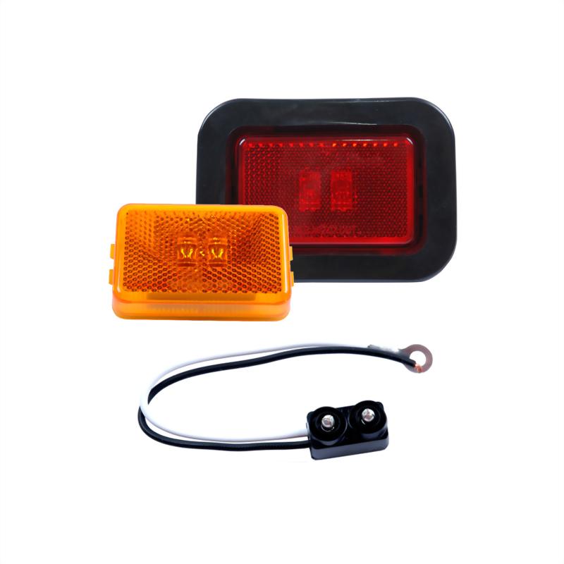 LED Rectangular Sealed Clearance Marker Light W/Reflex - 2 Diodes