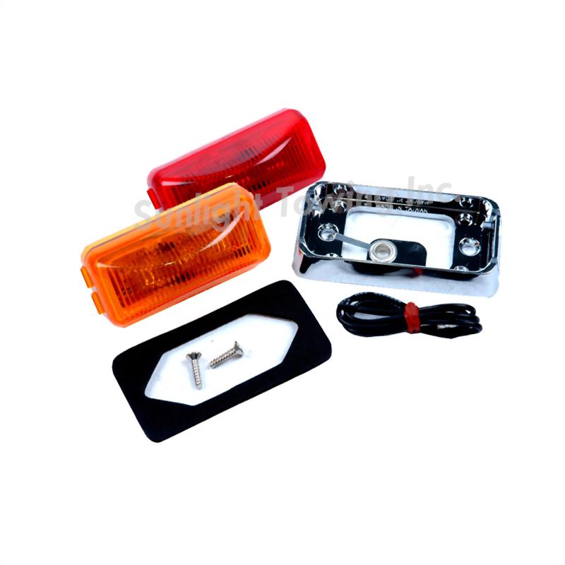 LED Rectangular Sealed Clearance Marker Light - 3 Diodes