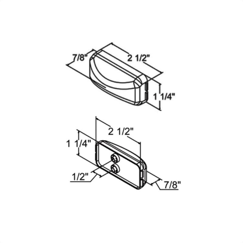 LED Rectangular Sealed Clearance Marker Light - Single Diode
