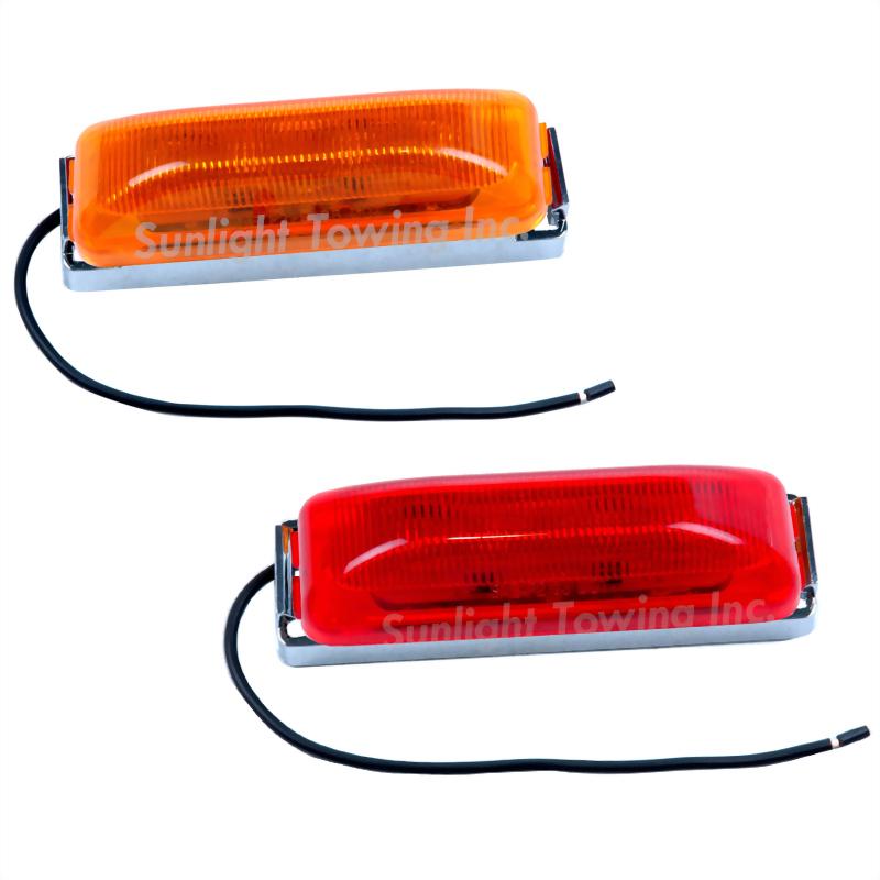 LED Rectangular Sealed Clearance Marker Light - 6 Diodes