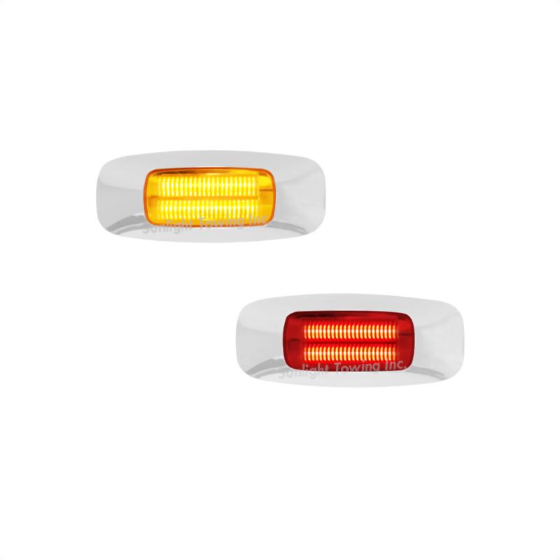 LED Clearance Marker Light W/Chrome Bezel - 4 Diodes