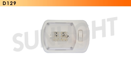 Single LED RV Ceiling Light - 12 Diodes