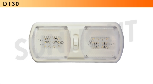 Double LED RV Ceiling Light - 24 Diodes