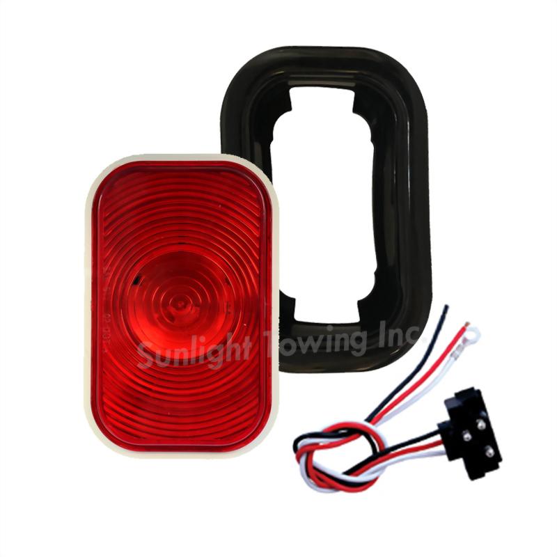 LED Rectangular Sealed S/T/T Light - Single Diode