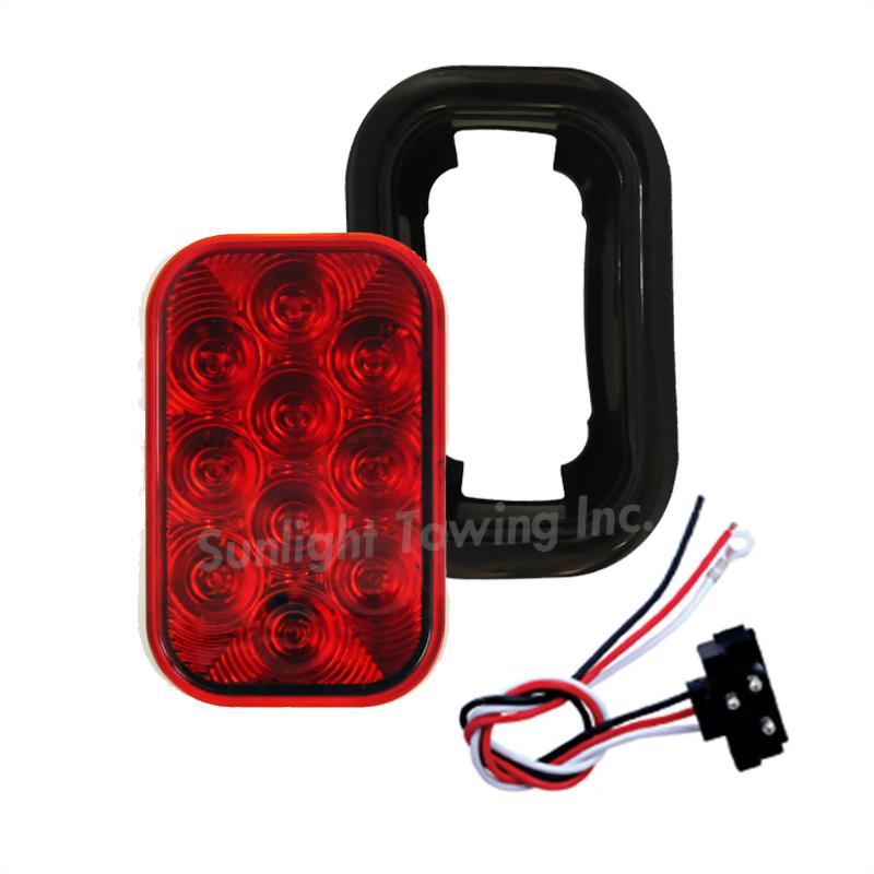 LED Rectangular Sealed S/T/T Light - 10 Diodes