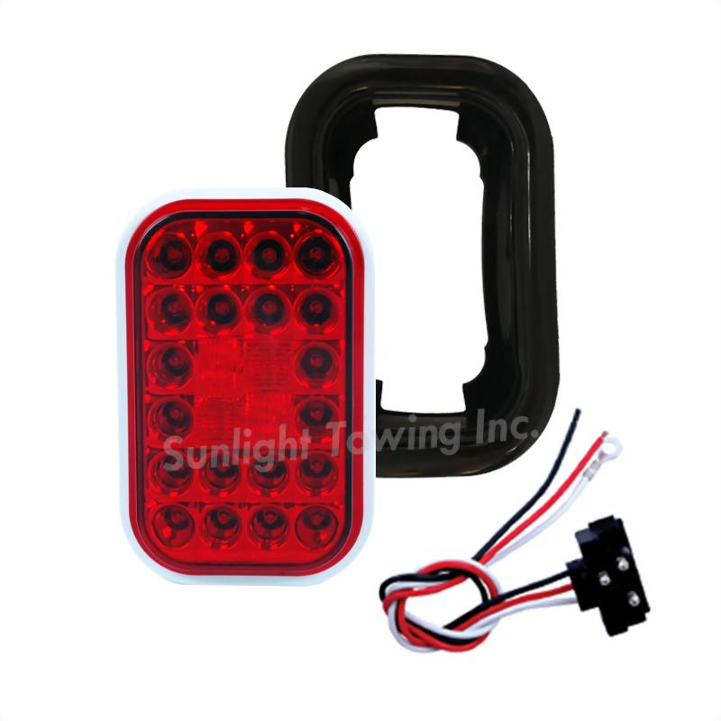 LED Rectangular Sealed S/T/T Light - 24 Diodes
