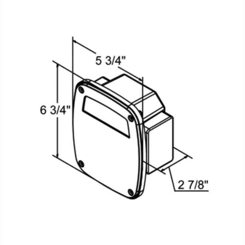 LED Stud-mount Combo Tail Light W/Side Marker Light
