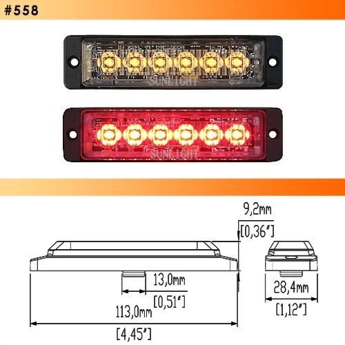 LED Strobe Light - 6 Diodes
