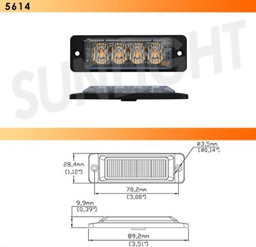 LED Strobe Light - 4 Diodes