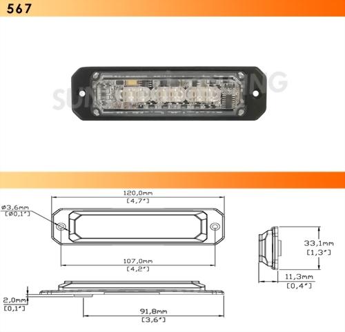 Dual Color LED Strobe Light