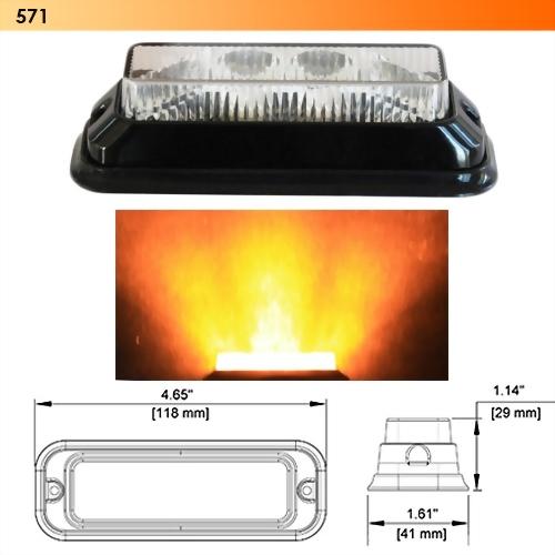 LED Wide Angle Strobe Light - 4 Diodes
