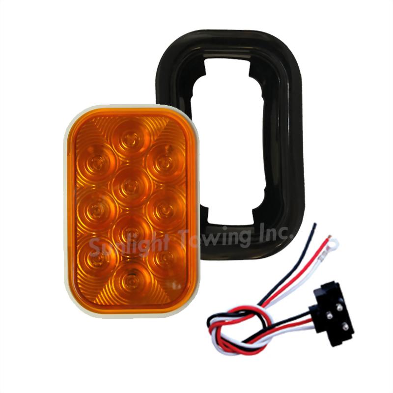 LED Rectangular Sealed Turn Signal Light - 10 Diodes