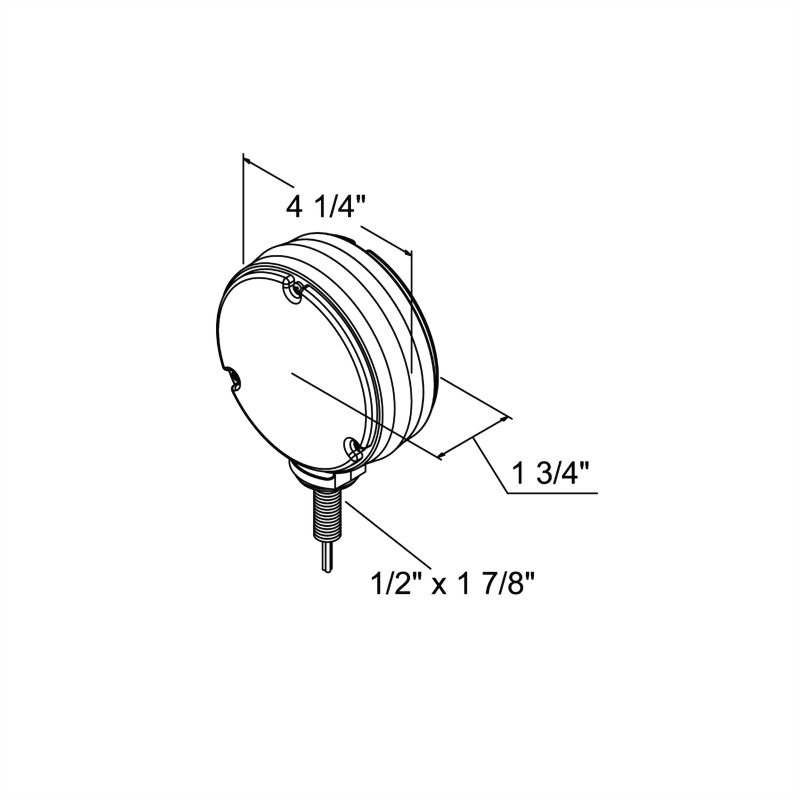 LED Double-Face Round Turn & Park Light - 48 Diodes